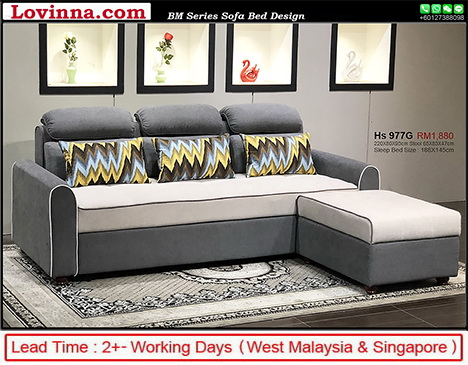 sofa bed with stool