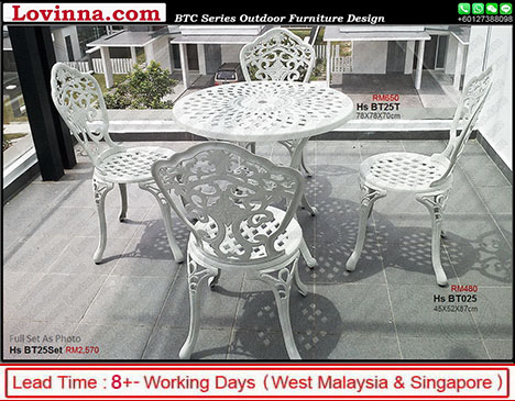white colour garden set