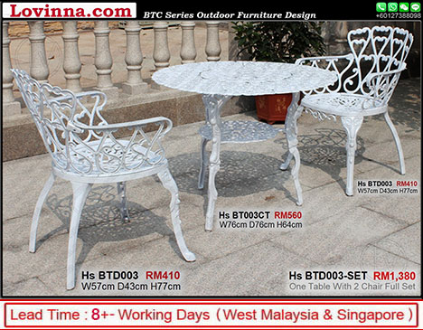 white colour garden chair And Table