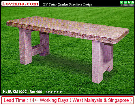 concrete look outdoor table