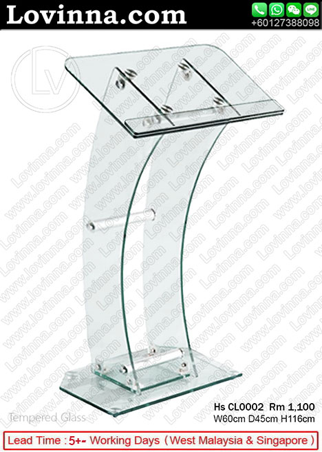 Tempered Glass podium stands