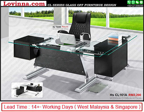 glass office table price