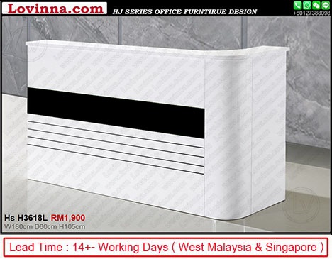 reception table design for office