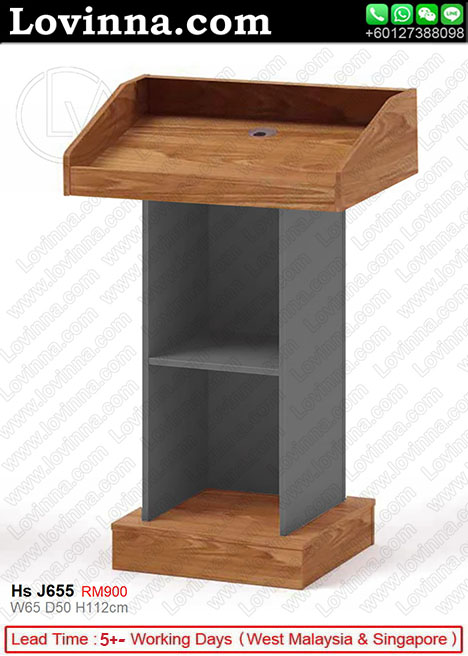 podium with microphone holder