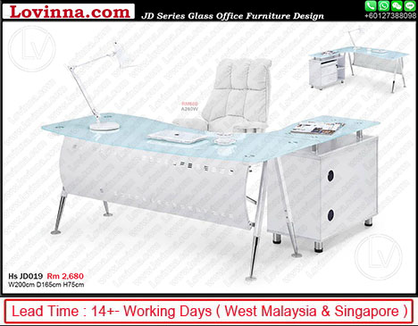 glass office desk amazon