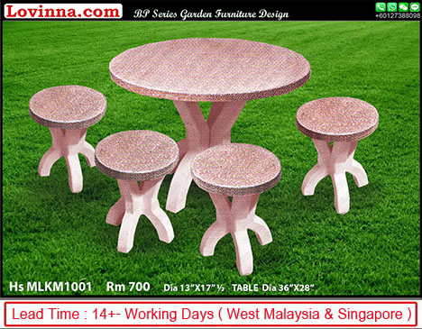 round concrete dining table