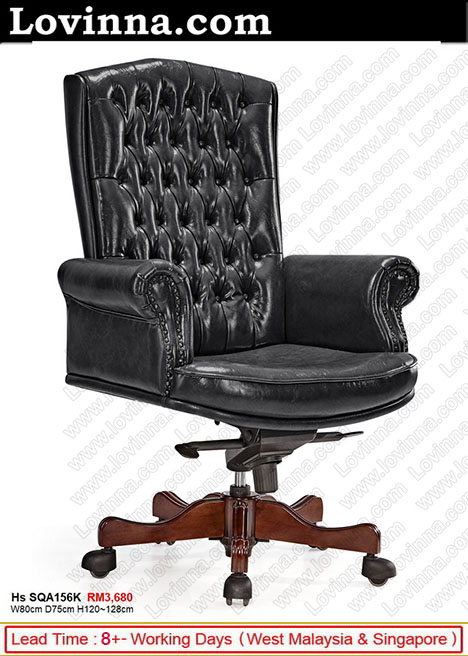 leather country office chair
