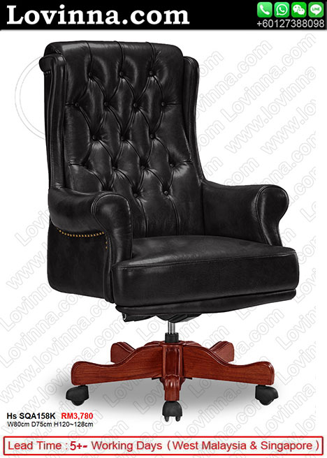 leather chair in country style