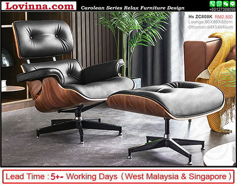 Eames Lounge Black Leather