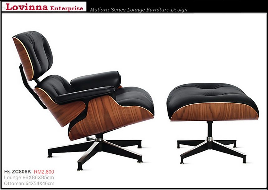 Leather eames chair