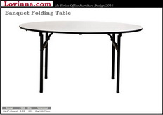 Folding Table in round