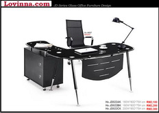 glass office desk for sale