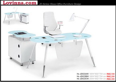 contemporary glass office desk
