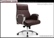 high back desk chair leather