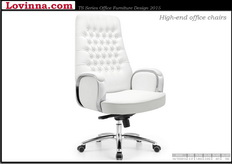 high back office chair leather