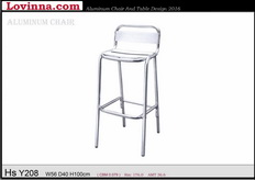 Lovinna High Aluminum Chair Batu Pahat