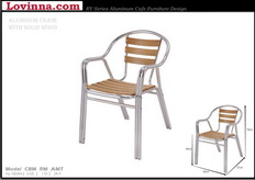 Aluminum Chair With Wooden